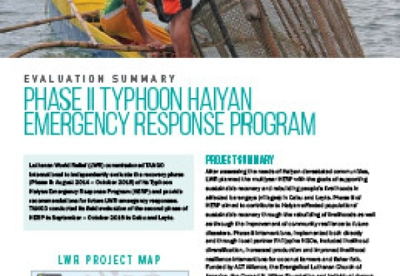 Phase II Typhoon Haiyan Emergency Response Program