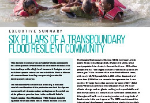 Six Pillars of a Transboundary Flood Resilient Community: Executive Summary