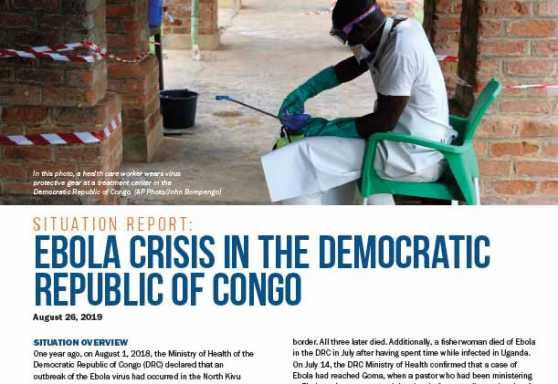 Ebola Crisis in the Democratic Republic of Congo Situation Report, No. 3