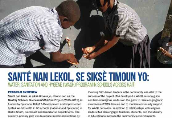 Santé nan lekol, se siksè timoun yo, also known as the Healthy Schools, Successful Children Project