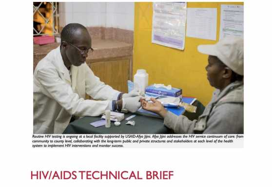 Afya Jijini HIV/AIDS Technical Brief