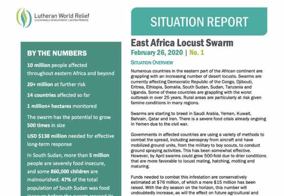Situation Report: East Africa Locust Swarm