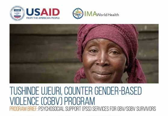 Tushinde Ujeuri, Counter Gender-Based Violence (CGBV) Program: Psychosocial support services (PSS) for GBV/SGBV survivors