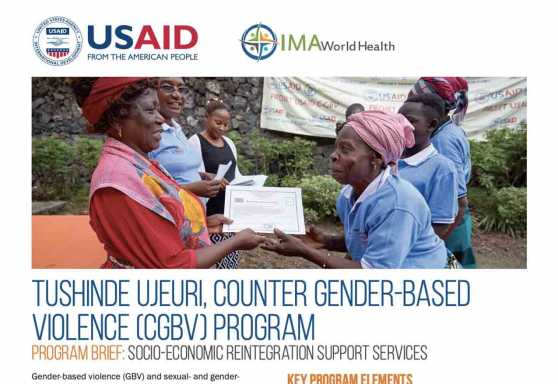 Tushinde Ujeuri, Counter Gender-Based Violence (CGBV) Program: Socio-economic reintegration support services