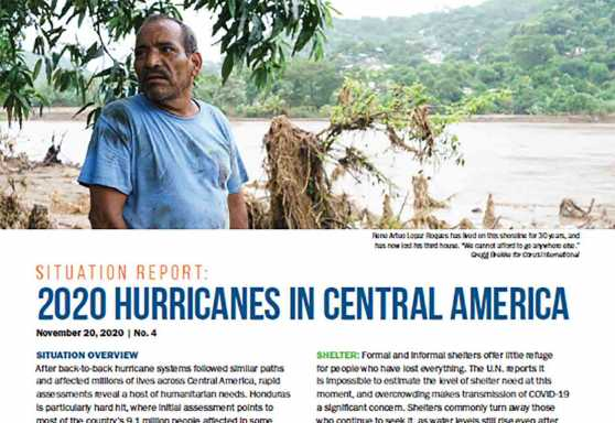 2020 Hurricanes in Central America Situation Report No. 4