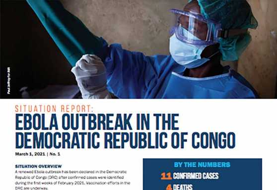 Ebola outbreak in the  Democratic Republic of Congo Situation Report No. 1