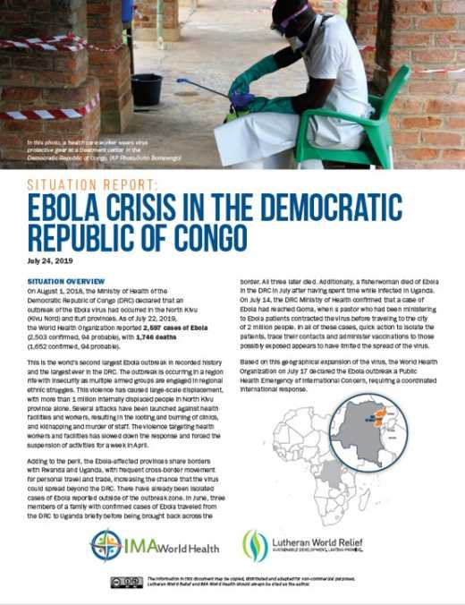 Ebola Crisis in the Democratic Republic of Congo Situation Report No. 2