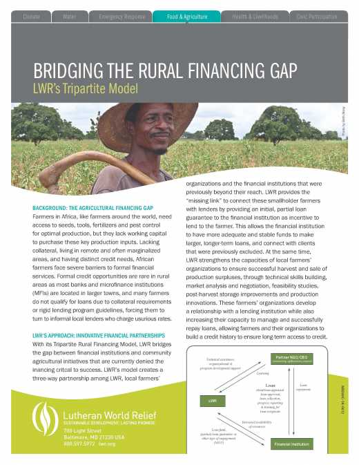 Tripartite Rural Financing Model